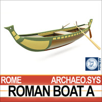 3ds max ancient roman boat fishing