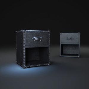 3d mayfair-steamer-trunk-1-drawer-cube model