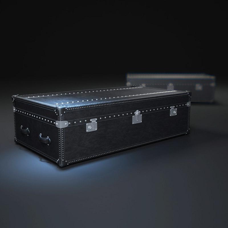 3d mayfair-steamer-trunk-coffee-table model