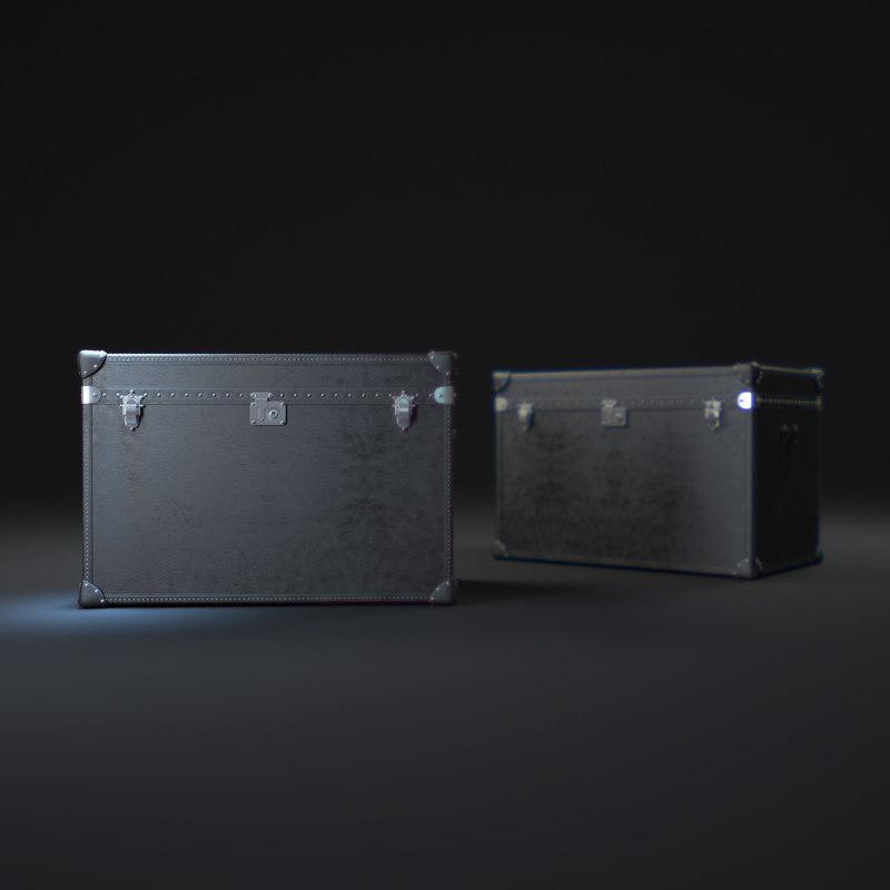 mayfair-steamer-trunk-tall-coffee-table 3d max