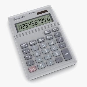 calculator number 3d model