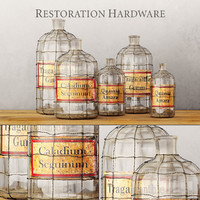 19th c caged apothecary obj