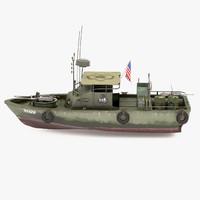 3d max patrol boat river