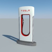 3d tesla supercharger