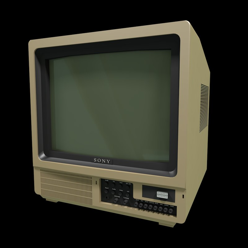sony tv old. c4d old tv sony