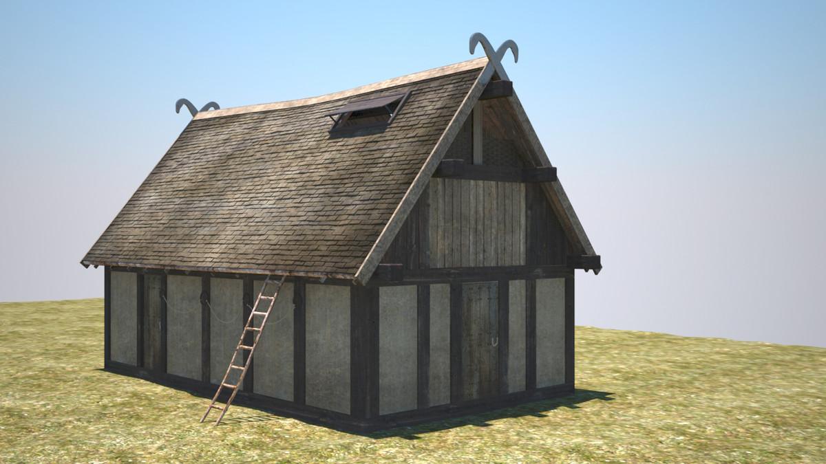 viking building 3d model