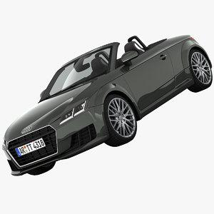 audi tt roadster sports 3d model