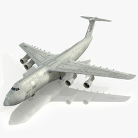 lockheed c-5 galaxy usaf 3d model