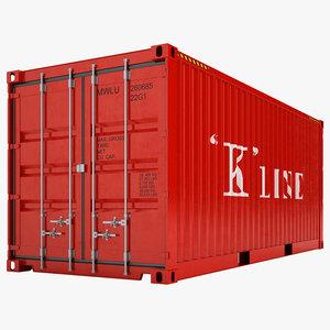 3d cargo container model