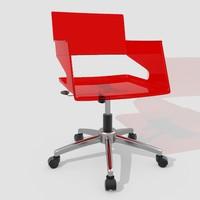 3d furnishings chair eames modern