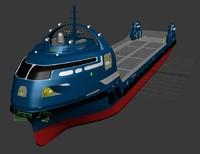 3d model cargo ship futuristic