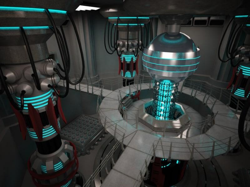 scifi base reactor 3d model