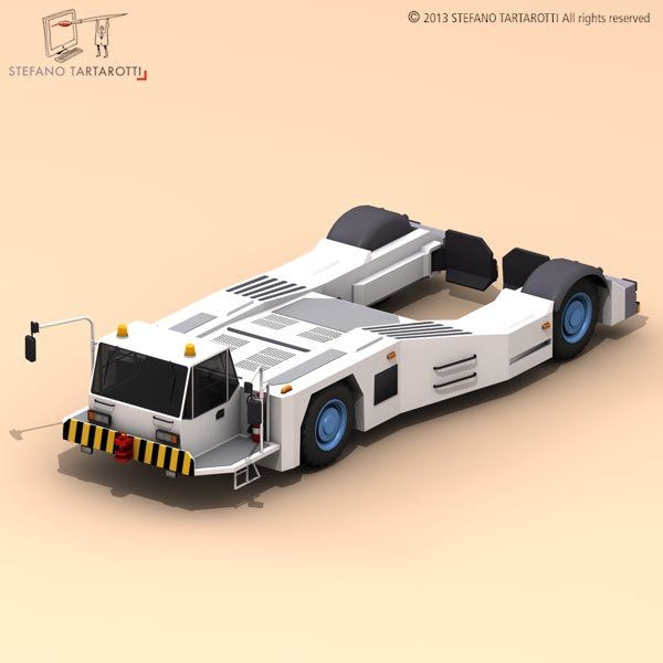 3d model airport tow tractor2