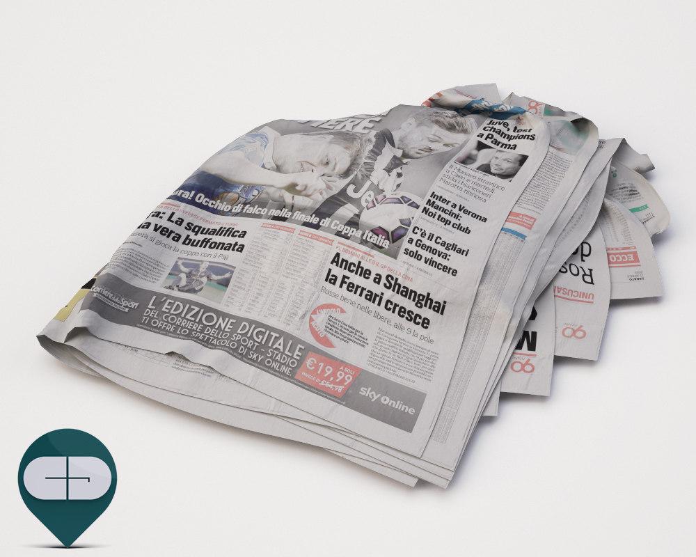3d model corriere sport newspaper