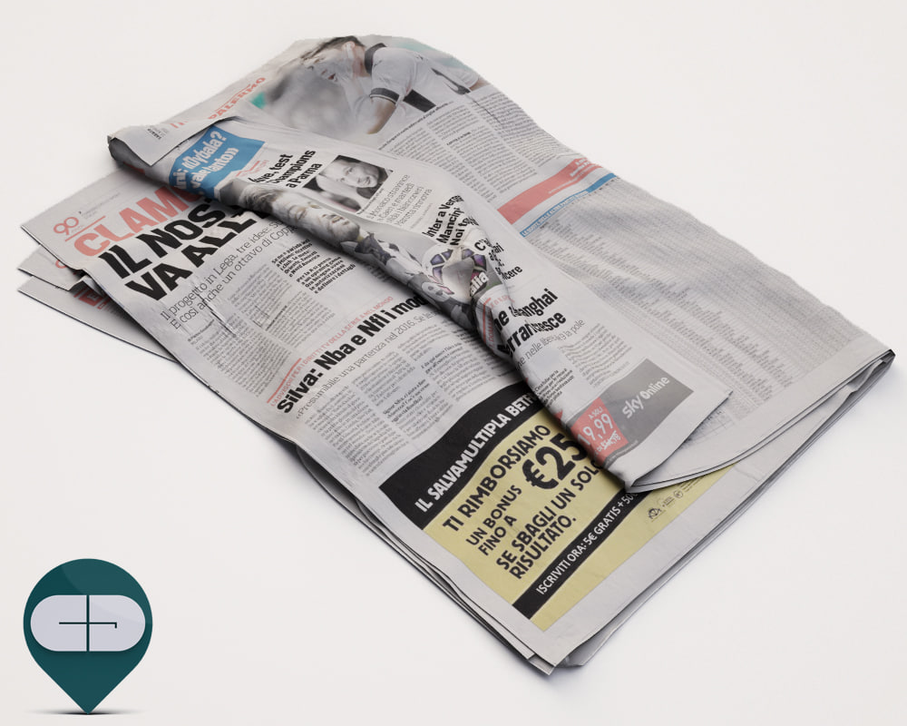 corriere sport newspaper 3d model