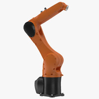 Generic Industrial Robot Arm Rigged 3D Model