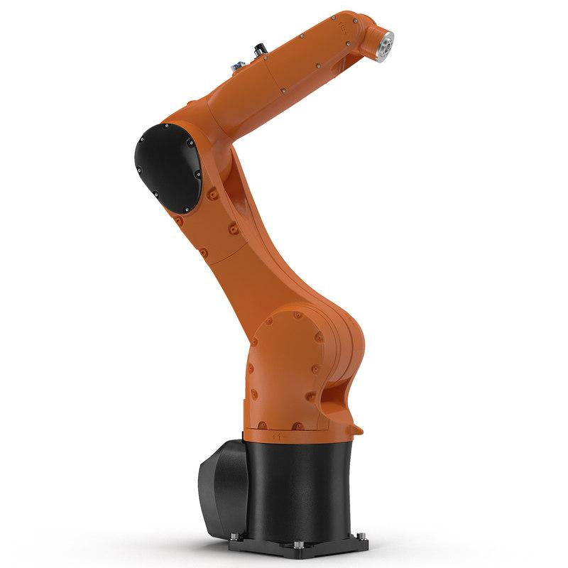 generic industrial robot arm 3d max