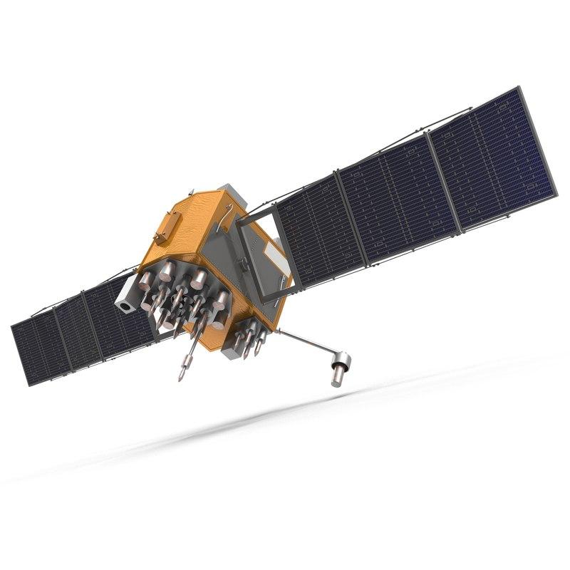 gps satellite navstar block 3d model