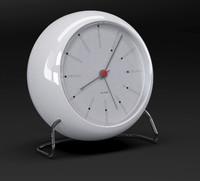 arne jacobsen bankers clock 3d model