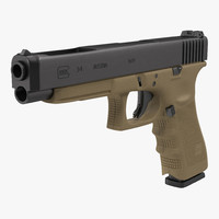 Competition Pistol Glock 34 3D Model
