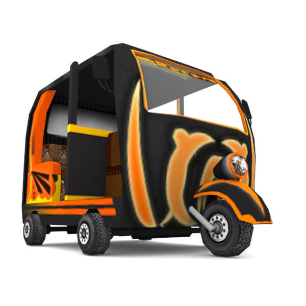 3d model rickshaw