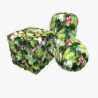 Christmas Plastic Holly Seamless