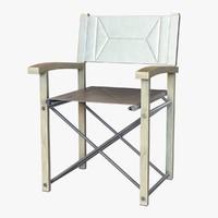 3d director chair model