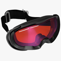 3d model of ski goggles generic