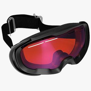 ski goggles generic 3d c4d