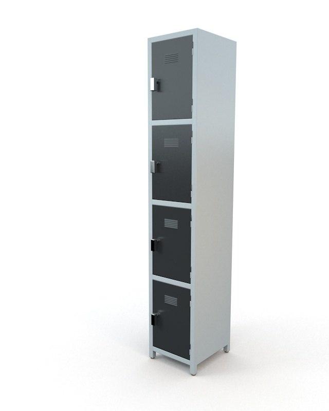 3d model of locker