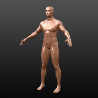 base male character 3d obj