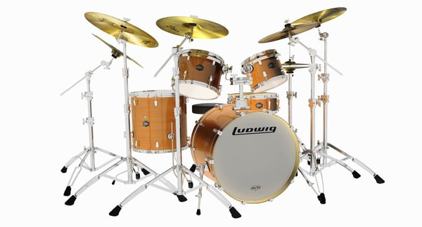 3d model ludwig element drum set
