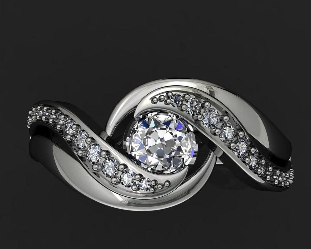 3d jewellery ring