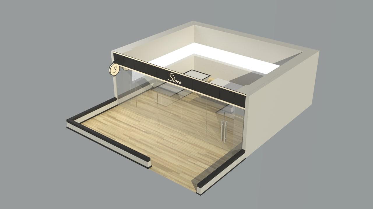 shop v3 3d model