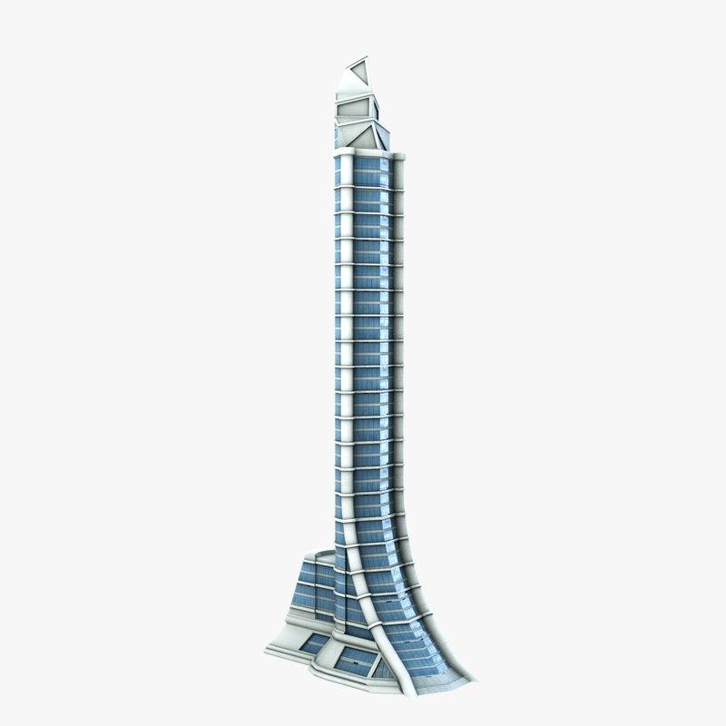 sci-fi futuristic building 3d model