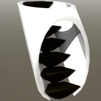 3d model tunnel stairs