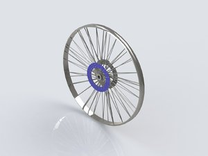 bicycle wheel ring 3d dxf