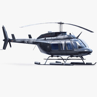 bell 206l helicopter 3d max
