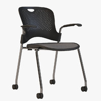 Detailed Herman Miller Caper Stacking Chair