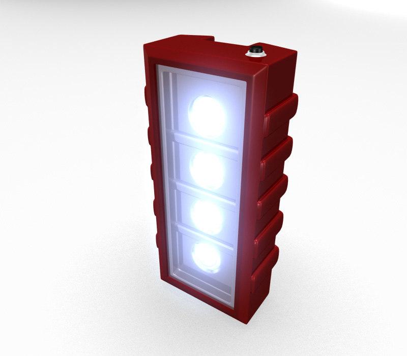free emergency light 3d model
