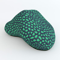3d model green brain coral
