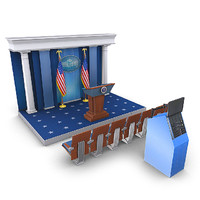 white house press room 3d model