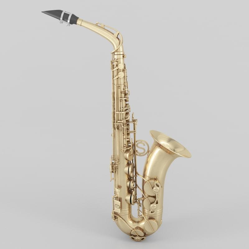 3d saxophone sax