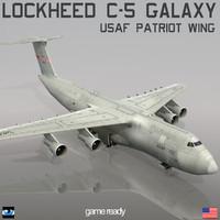 3d lockheed c-5 galaxy usaf model