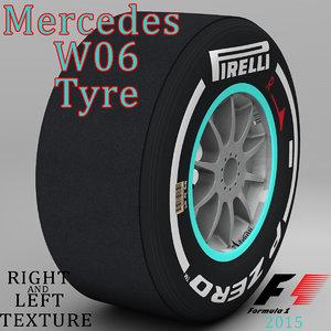 pirelli tyre w06 3d model