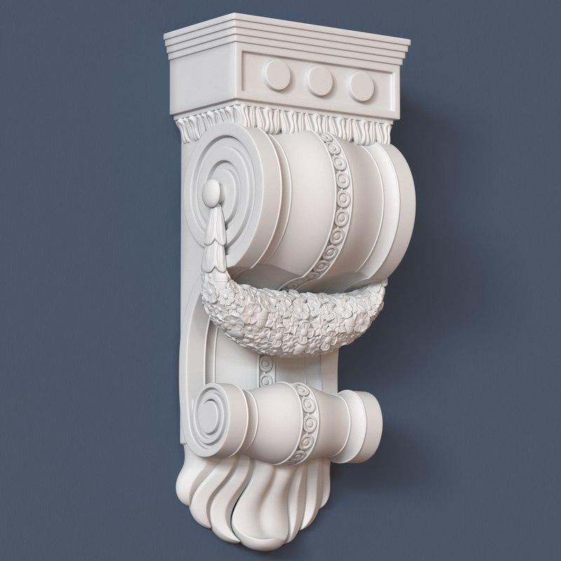 3d model corbel decorative