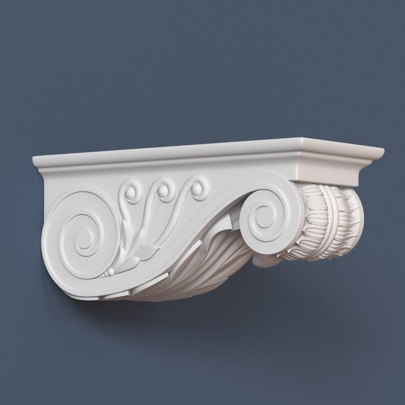 3d corbel decorative model