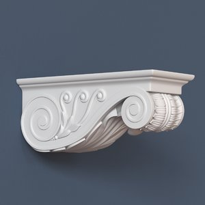 3d corbel decorative model