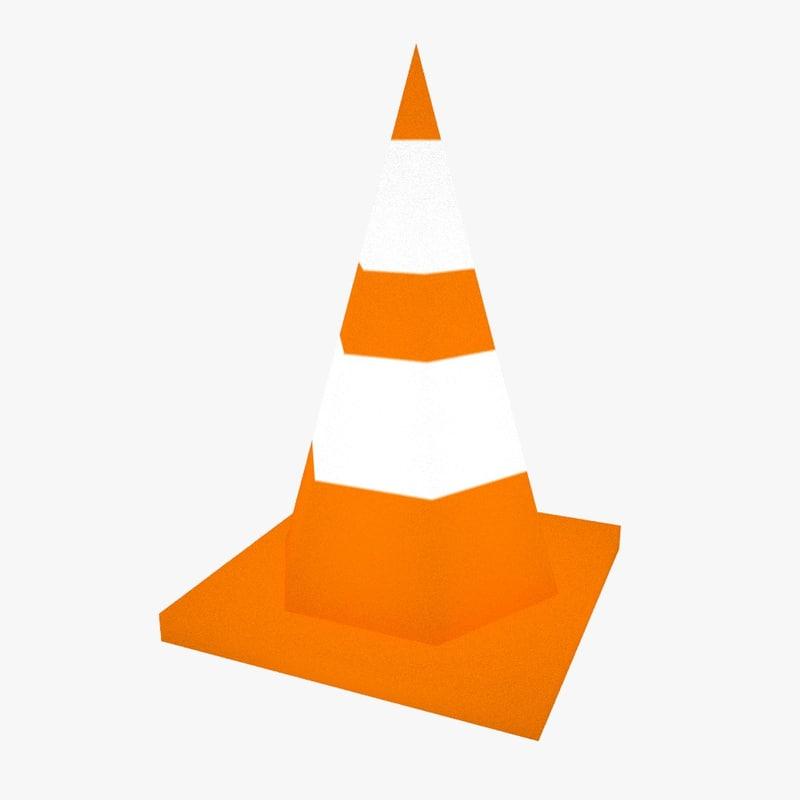 free ultra traffic cone 3d model