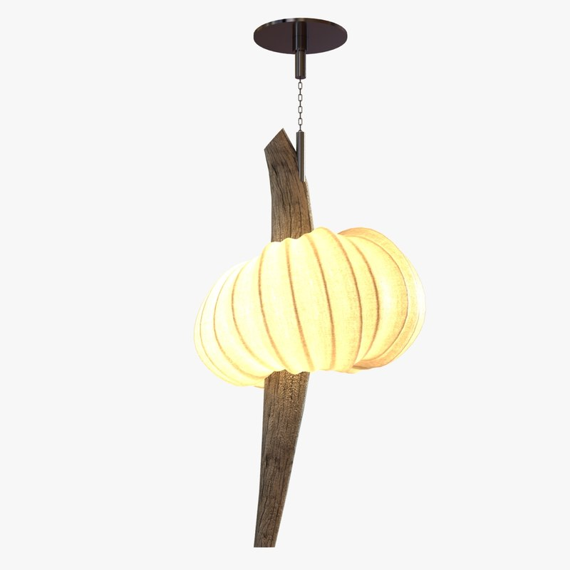 3d lamp pumpkin white fabric